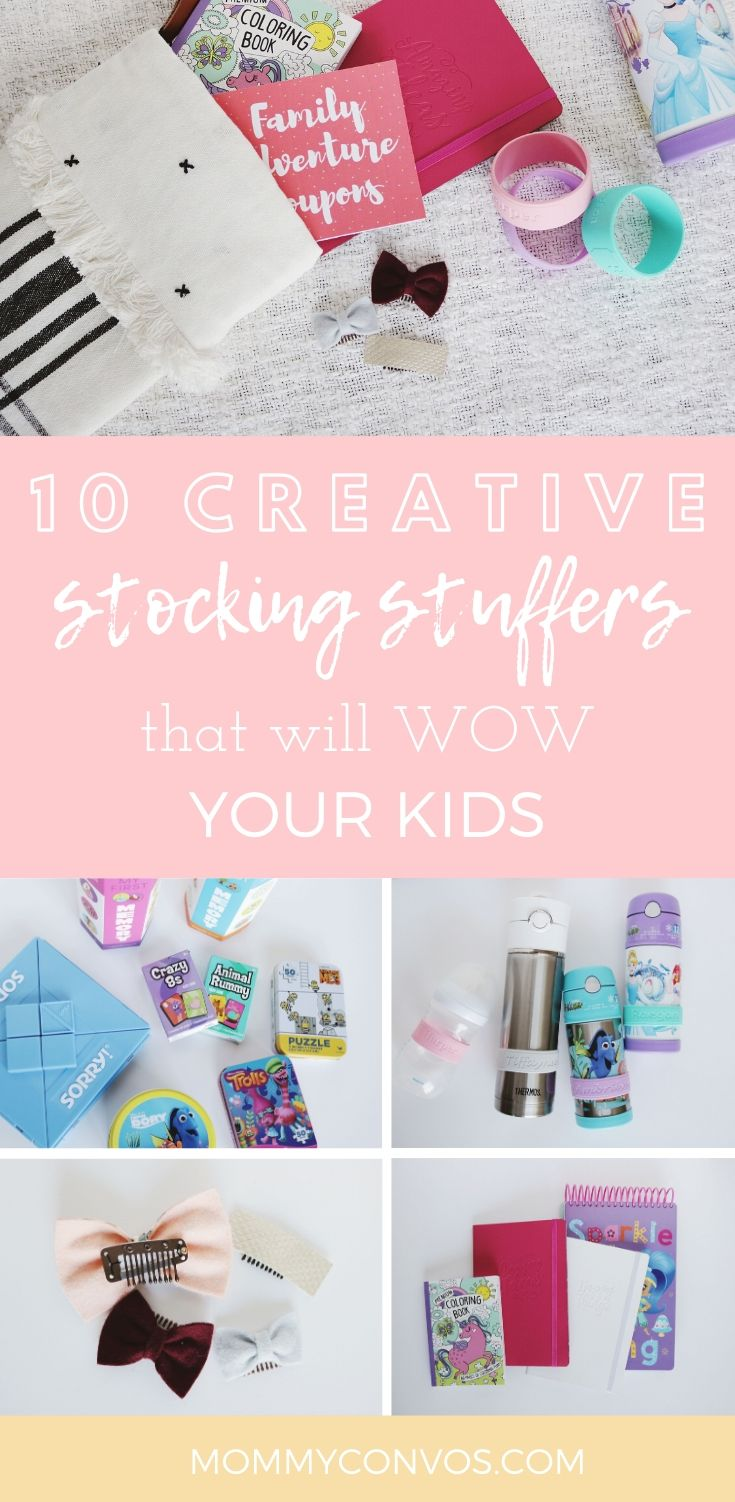10 Creative Stocking Stuffer Ideas that will WOW your Kids. non-toy stocking stuffers. Stocking stuffer ideas. 10 favorite stocking stuffer ideas. Holiday shopping list. Christmas gift ideas. Christmas shopping list.