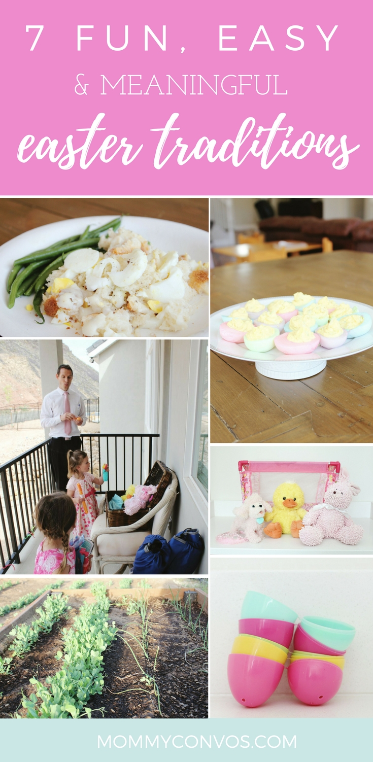 7 Fun, Easy, and Meaningful Easter Traditions We Can't Miss! Resurrected toys, deviled Easter eggs, egg-a-log golden rod and more.