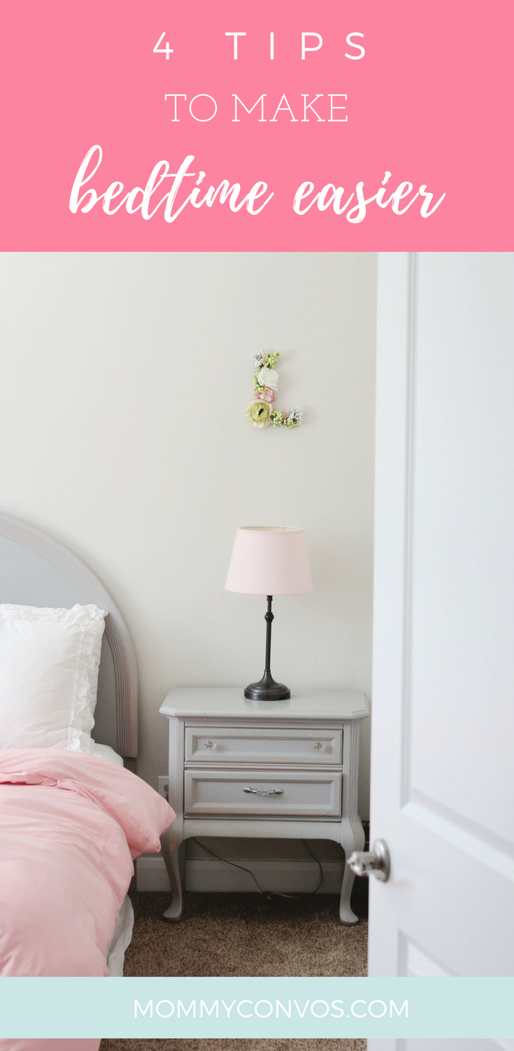 Bedtime tips. Best tips for a smooth bedtime. Bedtime with kids. Mom hacks. How I get my kids to go to bed. 4 Tips For Bedtime.