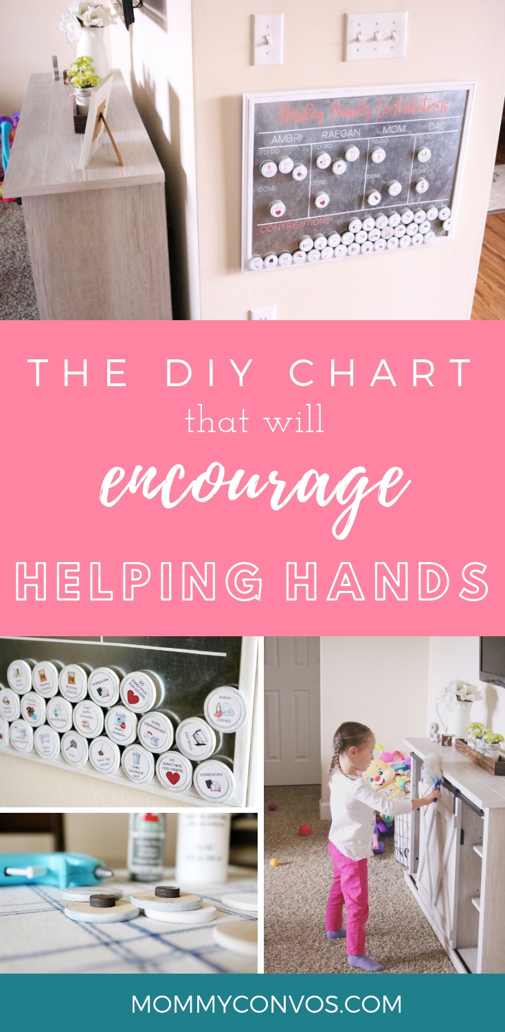 DIY chore board for the whole family. DIY chore charts. Getting kids to help out around the house. Age appropriate chores for kids. Household chores for kids by age. Teaching kids how to help with chores. Family Contributions. Positive Parenting Solutions.