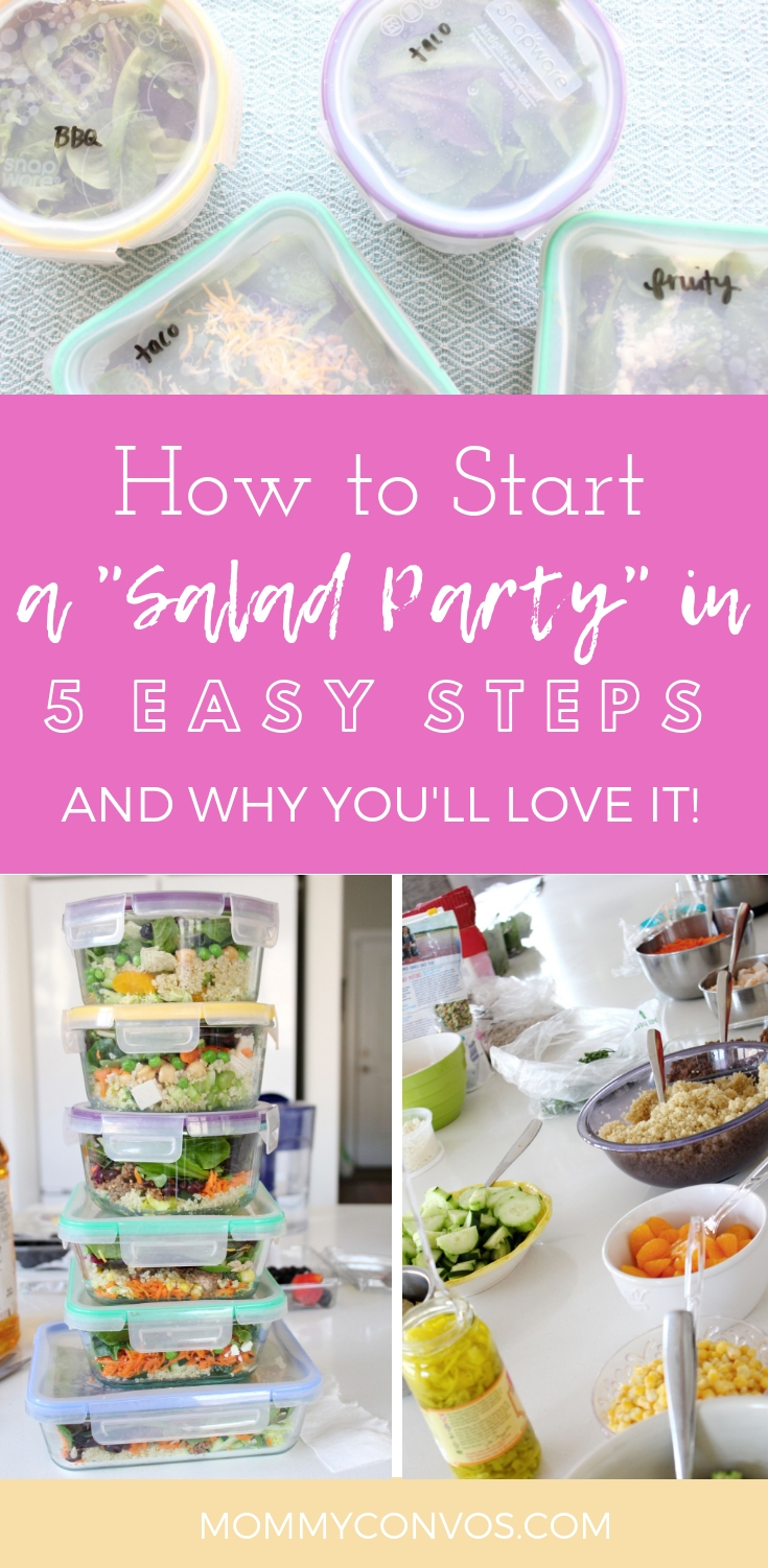 salad in a jar parties! how to host a salad in a jar party. how to start a monthly salad group. how to start a salad group. meal prepping mamas. how to incorporate lunch prep. lunch prep made fun. lunch prep for moms. salad in a jar prepping.