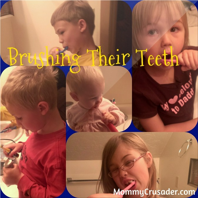 Brushing their Teeth | MommyCrusader.com