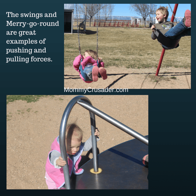 After completing a pushing/pulling obstacle course at the park, we went home and finished our unit on force with some shearing in our F is for Force unit.
