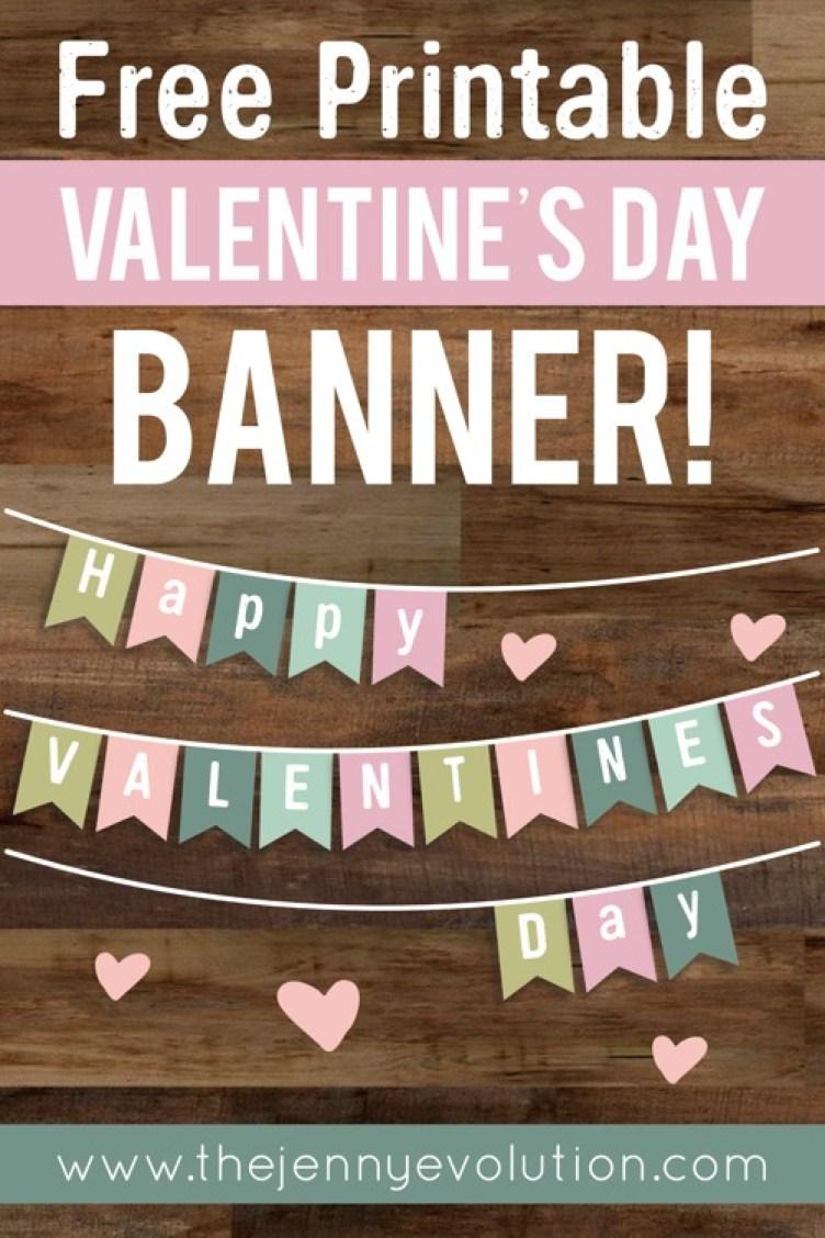 Valentine Home Decor Banner - FREE Printable!