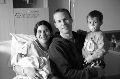 At First Sight Birth Photography - the whole fam damily