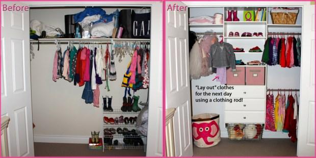 Martha Stewart Living closet (before & after)