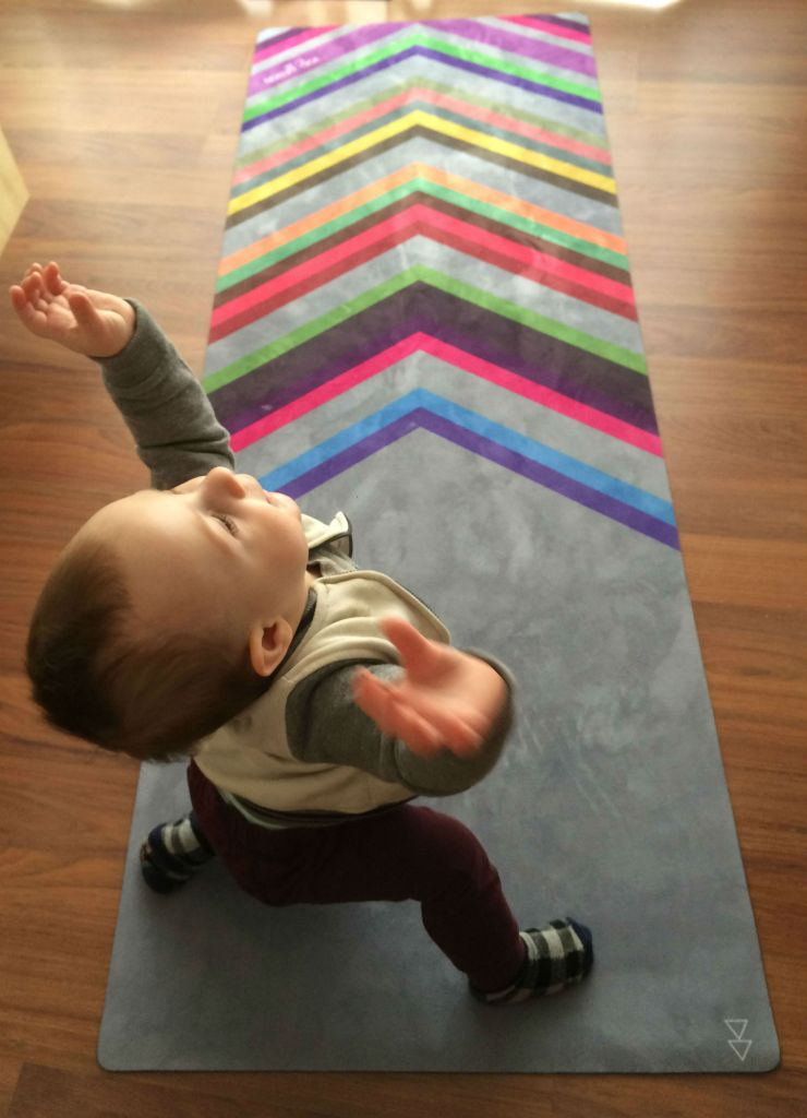 nine-month-old practicing his version of yoga