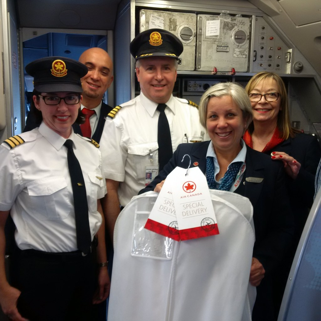 Wedding dress delivery Air Canada