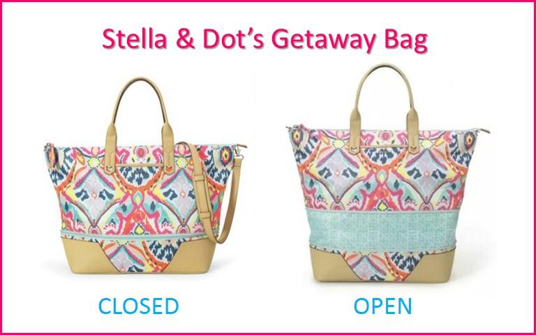 How big is the Stella & Dot Getaway Bag?