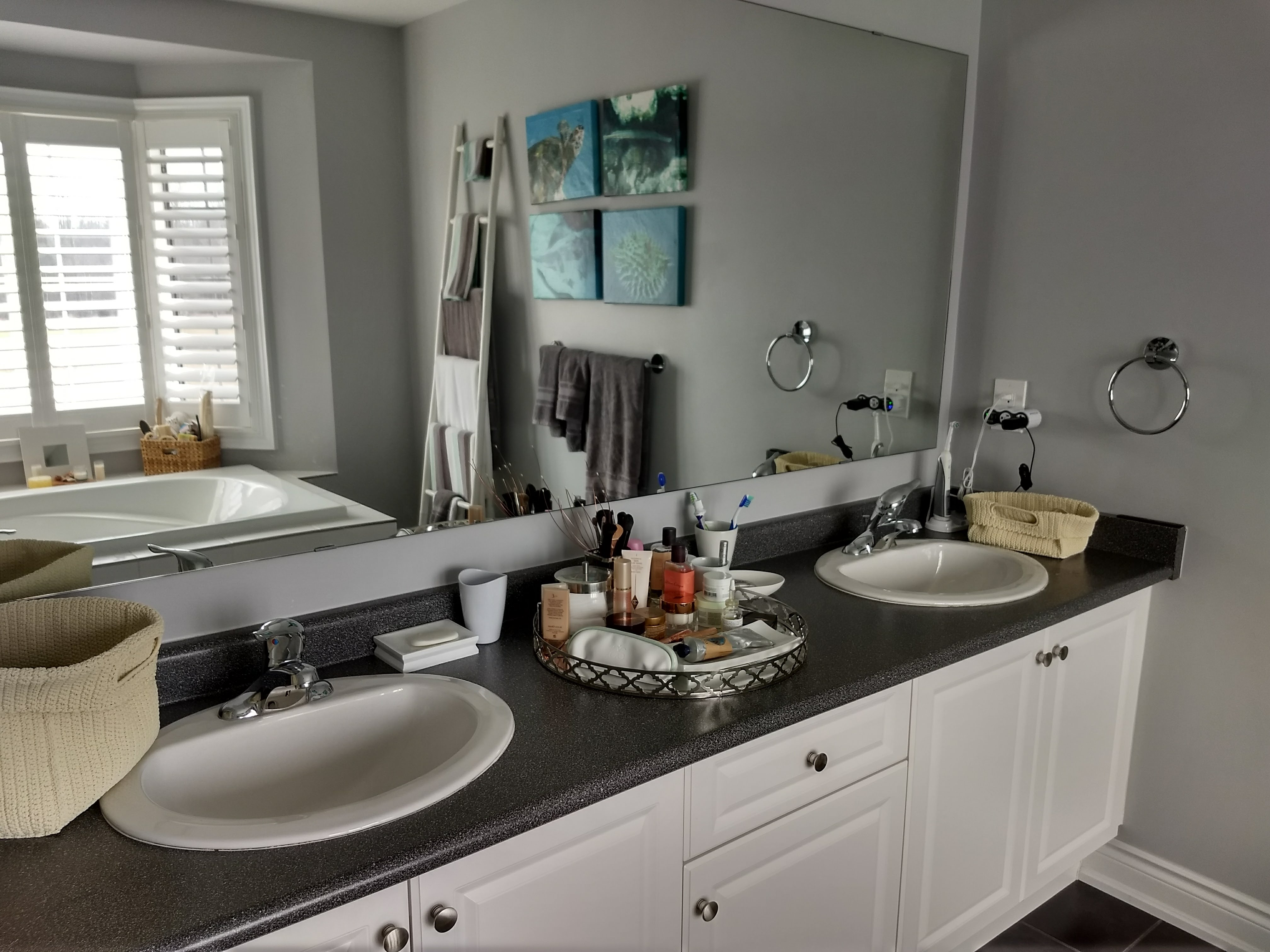 Quartz Or Granite For A Bathroom Vanity Countertop Mommy Gearest Mommy Gearest