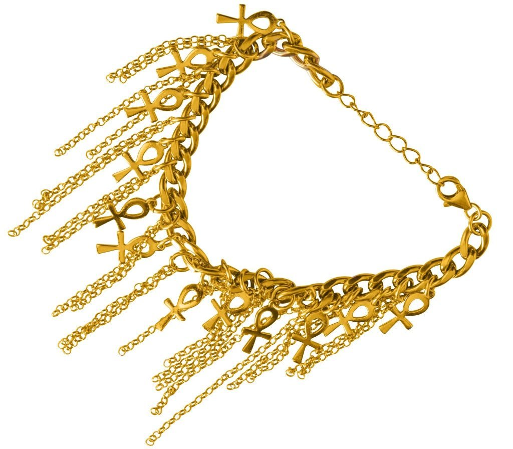Ankh Charm Bracelet