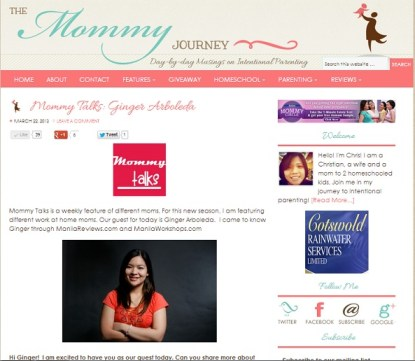 Interview with The Mommy Journey