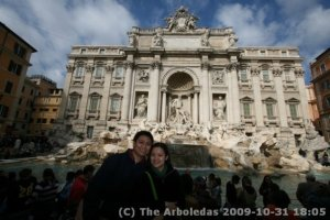 Ej and I at the Trevi Fountain in Italy