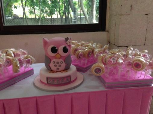 Baptismal Owl Cake