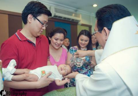 Pouring of the Holy Water at Zeeka's Baptism