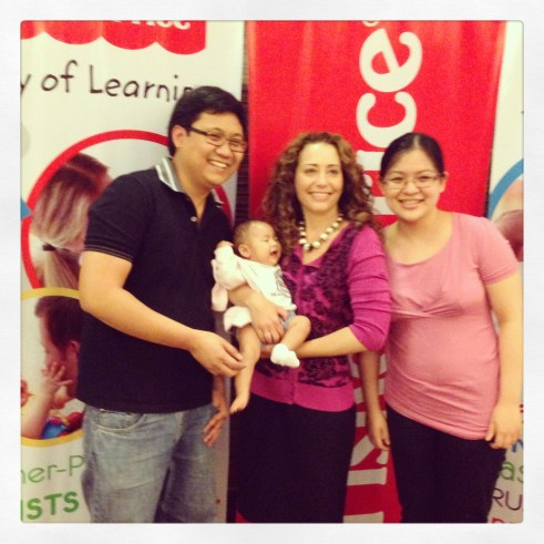 Mommy Ginger, Daddy EJ, Baby Zeeka and Ms. Carrie Lupoli