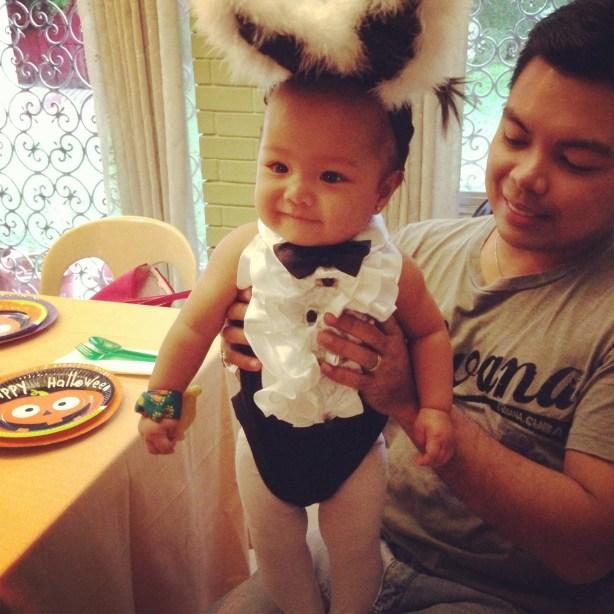 Baby Rafi as a Bunny