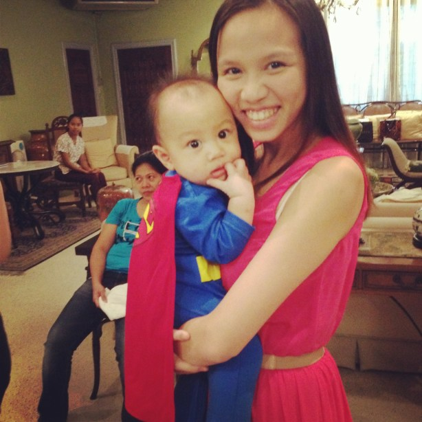 Baby Andre as Superman