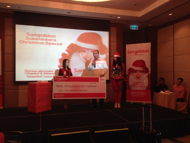 Sangobion's check donation to the Philippine National Red Cross