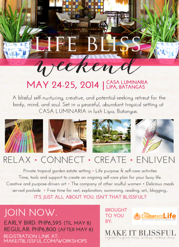 Life Bliss Weekend Poster 2014