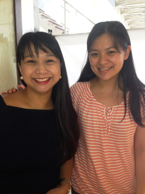 Bunnie De Guzman of Ni-Qua with Mommy Ginger