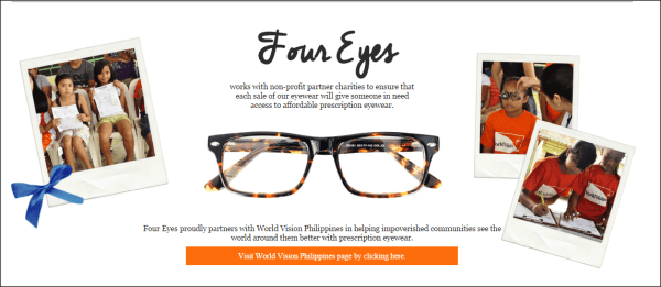 Four Eyes Helps World Vision