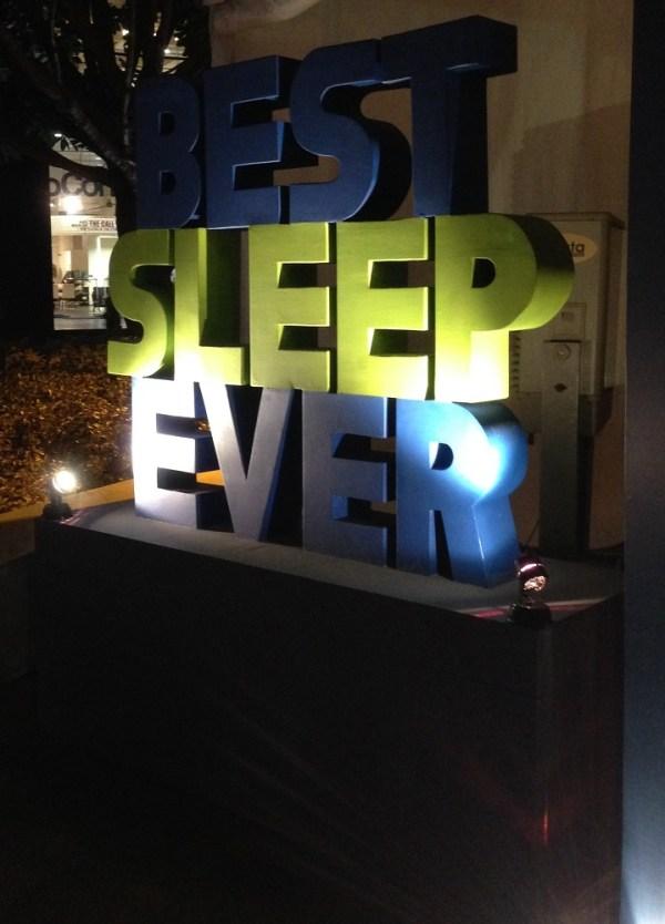 Best Sleep Ever.