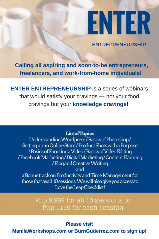Enter Entrepreneurship Poster