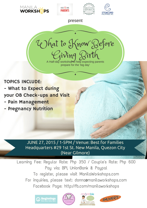 What to Know Before Giving Birth Poster v3
