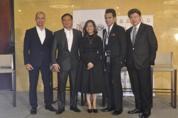 L-R The Final Pitch creator John Aguilar, venture capitalist Jose 'Jomag' Magsaysay, CEO of MFT Group of Companies Mica Tan, Chairman and CEO of the Sterling Group of Companies and SL Agritech, Dr. Henry Lim Bon Liong, and Chairman and CEO of Catala Corporation Joseph Calata