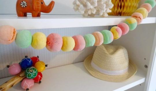 How to make a marbled salt dough ball garland