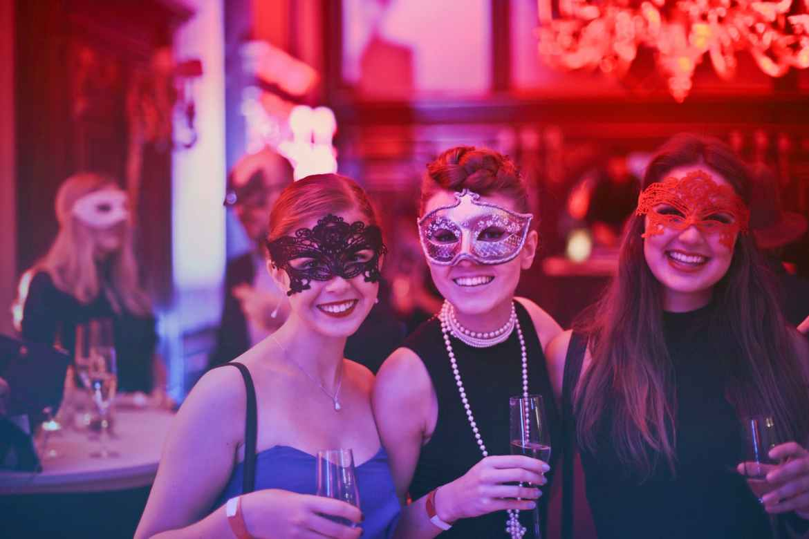 photo of women wearing masks
