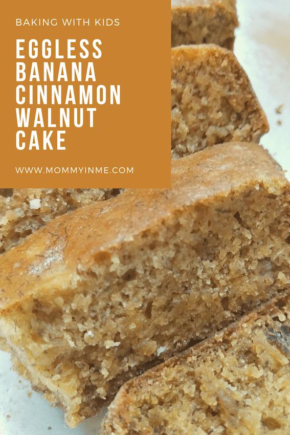 Baking with Kids is not just fun but also helps in their development. Check out this Eggless Banana Cinnamon Walnut cake recipe here. #Baking #cakebake #bakingwithKids #bananabread #bananacinnamoncake #cake #blogchatterA2Z #cakerecipe