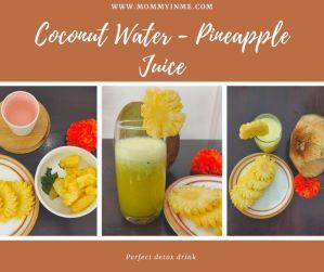 Coconut water Pineapple Detox drink recipe