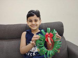 How to make DIY Paper Christmas Wreath for Christmas decor?