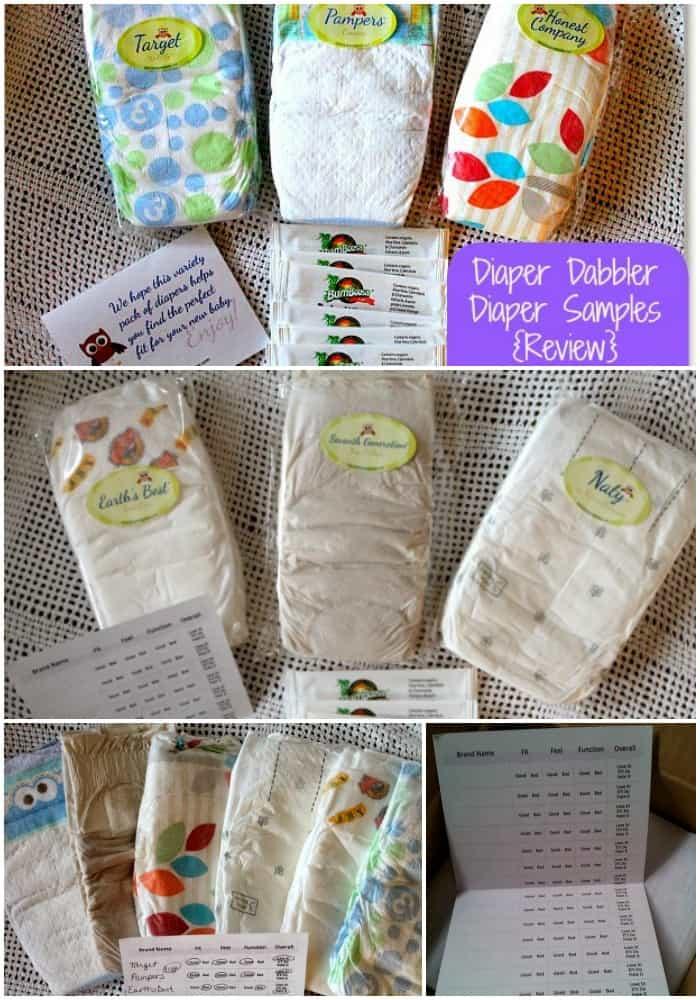 Sample Diaper Packs from Diaper Dabbler