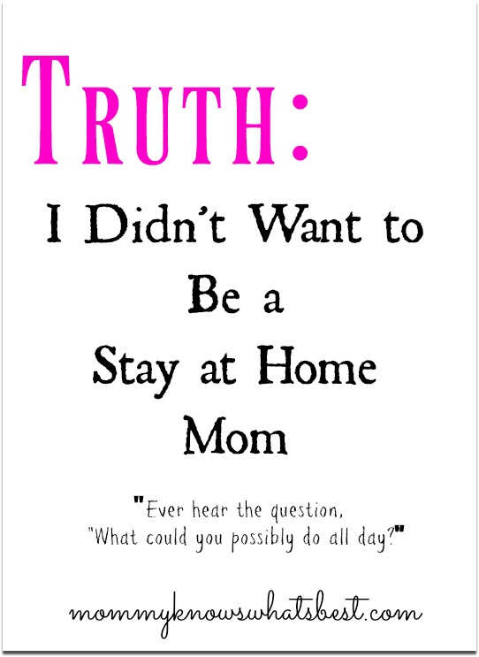 want to be a stay at home mom