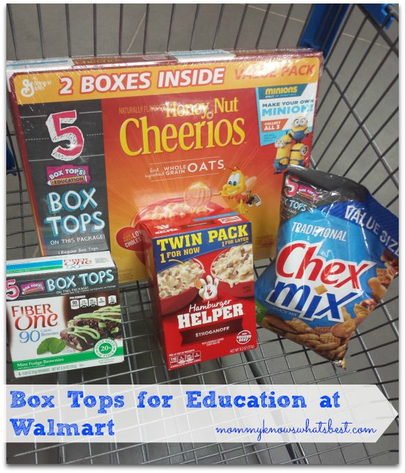 Box Tops Products at Walmart