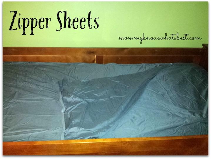 Zipper Sheets for Twin Mattresses