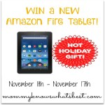Amazon Tablet Giveaway