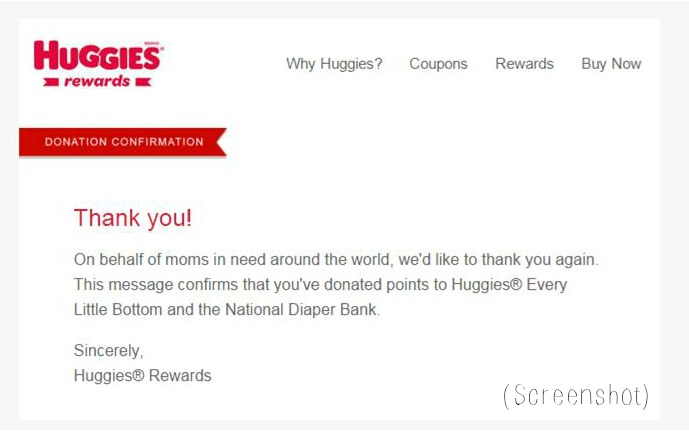 huggies rewards email