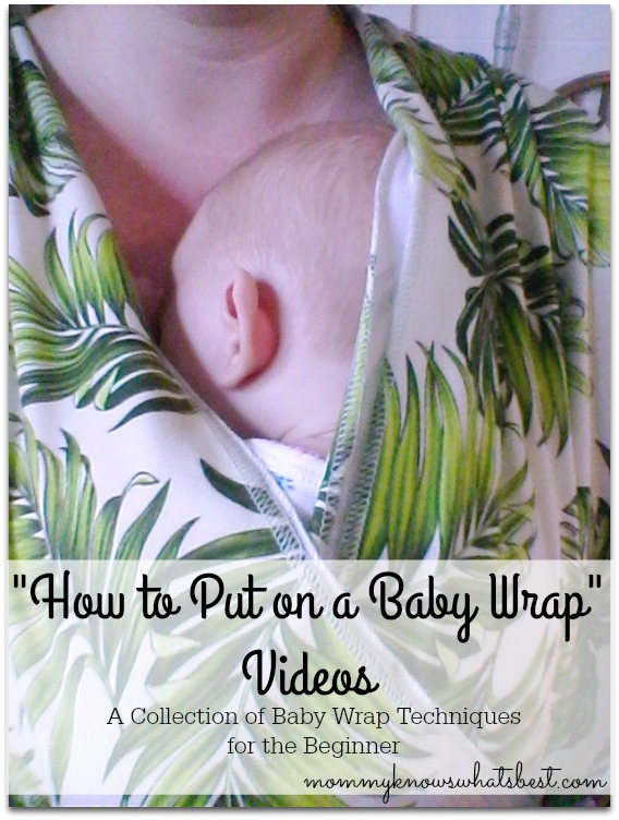 how to put on a baby wrap videos