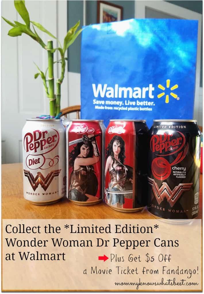 Dr Pepper Wonder Woman Cans