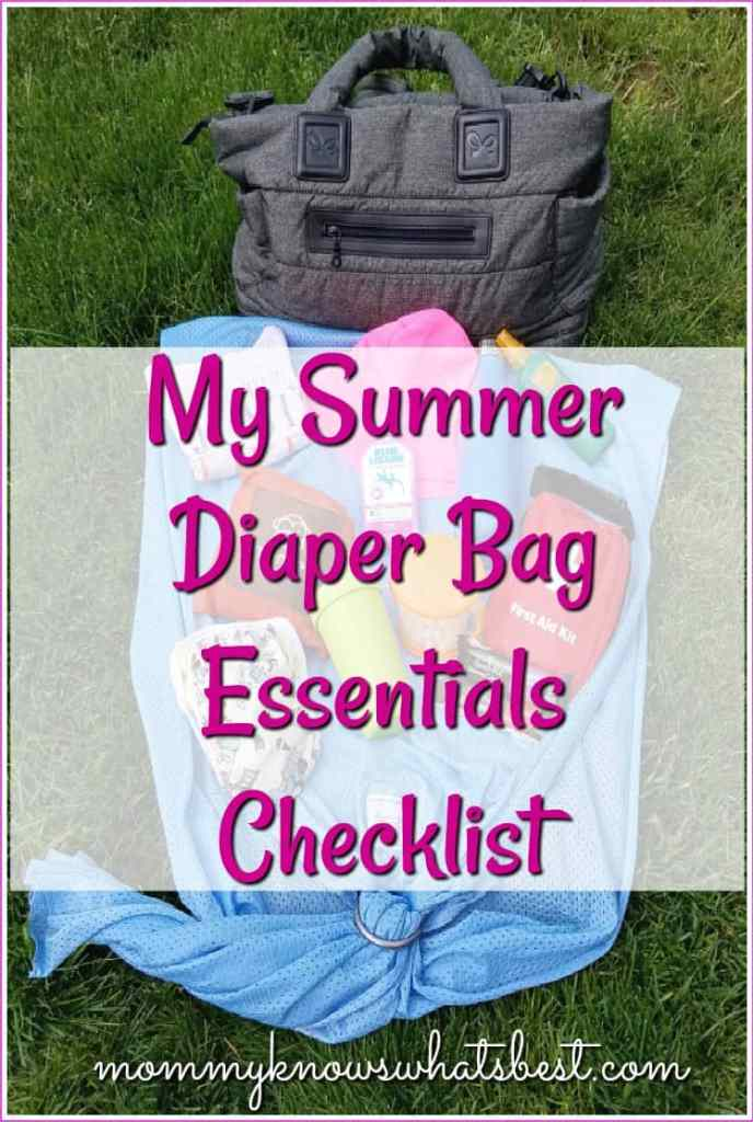 summer diaper bag essentials checklist