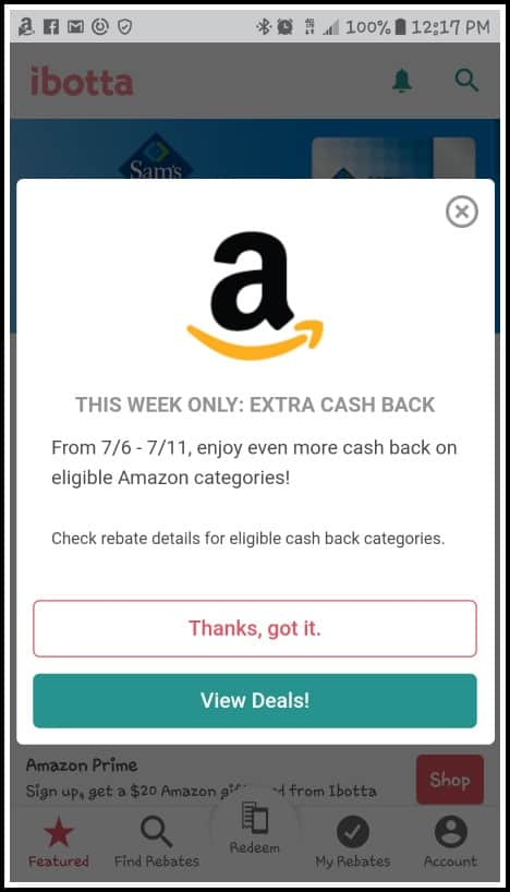amazon ibotta rebates