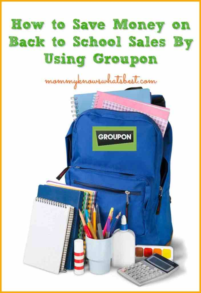 back to school sales on Groupon