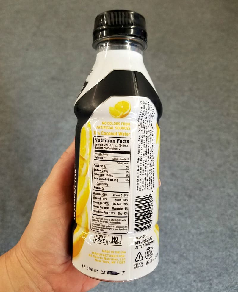 bodyarmor nutrition facts