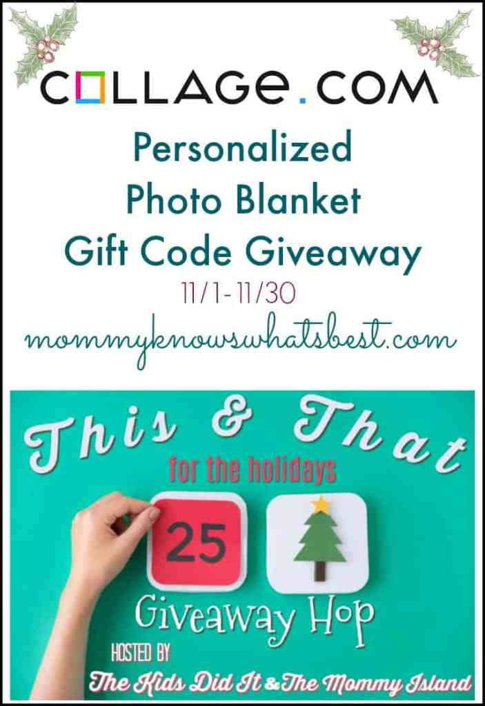 personalized photo blanket gift code giveaway