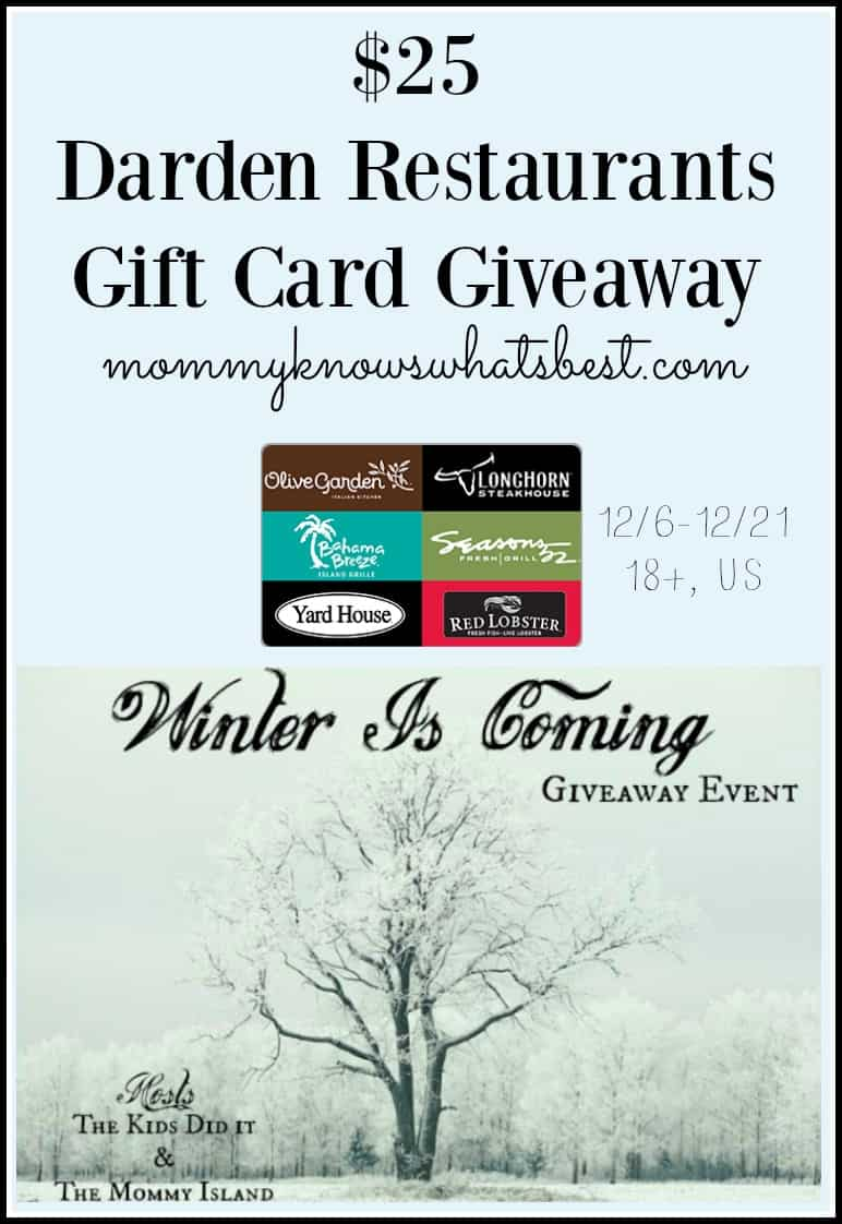 darden gift card giveaway