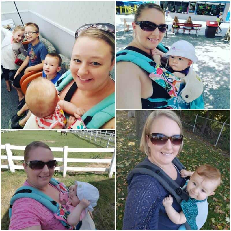 babywearing front carry